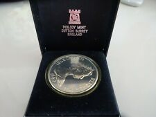 1980 Isle Of Man Queen Mother One Crown Coin Pobjoy Mint      (TR)