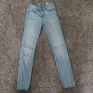 Abercrombie Kids Girl's Size 13/14 Light Wash Slim Super Skinny Jeans