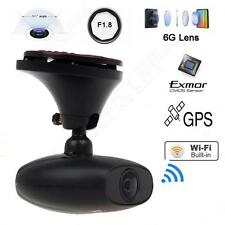 1080P WIFI Car Dash Camera GPS Recorder 30fps DVR BOX Black for Android iphone