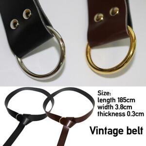 Medieval Belt PU Leather Belt Viking Battle Knight 1.85m Long 3.8cm Wide