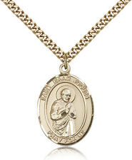 """Saint Isaac Jogues Medal For Men - Gold Filled Necklace On 24"""" Chain - 30 Day..."""