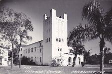 Postcard RPPC MELBOURNE FL Methodist Church palm trees 1951 used