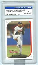 2006 Bowman Originals Johan Santana Gem-Mint 10 NY Mets