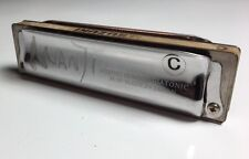 *VINTAGE* MANJI Suzuki Harmonica Key of C, 10-Hole Diatonic M-20 - Made in Japan