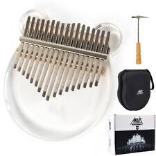 More details for aklot kalimba 17 key thumb piano crystal finger instrument set w/bag hammer book