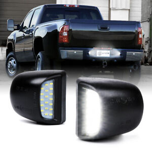 Xprite 5500K Pair LED License Plate Light For 1999-2013 Chevrolet Silverado GMC
