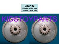 1 Fisher Price Power Wheels #7 Gearbox Gears GEAR #1 TEETH 25//72 NEXT TO MOTOR