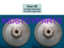 (2x) Power Wheels 2nd Second Gear on All #7R Gearbox Buy 2 and $ave 14/79 teeth