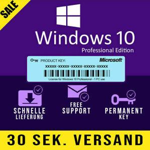 WindowⓄ 10 Pro Professional Key Vollversion 1 PC Lifetime Multilingual Pro
