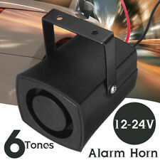 6 Tones Car Police Fire Alarm Horn 12-24V Warning Loud Sound Truck Boat Siren GV