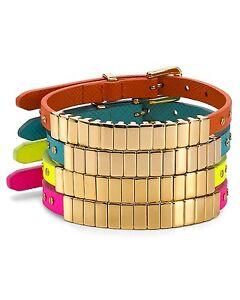 Michael Kors Gold / Pink Darrington Saffiano Leather Bracelet MSRP $95.00