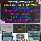 Range Hood Microwave Grease Charcoal Filter Pad Broan Gemline Hotpoint Nutone JD photo