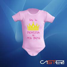 Body bebe soy la princesa de mis papis  regalo gracioso  (ENVIO 24/48h)