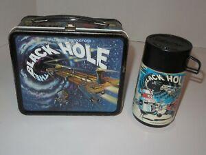 Vintage 1979 Walt Disney The Black Hole Metal Lunch Box with Thermos-Aladdin