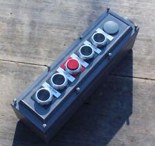 Allen-Bradley 800H-5HZ4R 5-Hole Push Button Enclosure Up Down Rapid Inch Stop