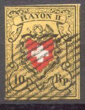 1850 Rayon II ZNr. 16II (Mi 8II) ʘ Abart «Kartonpapier» Attest Hermann