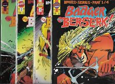Badger Goes Bezerk #1-#4 Set (Vf/Nm) Copper Age First Comics