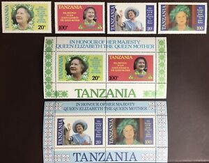 Tanzania 1985 Queen Mother Sets & Minisheets MNH