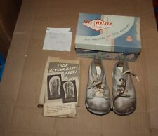 Wee Walker Vintage 1950 Baby Shoes with Original Box and Brochure