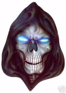 Airbrushed Hooded Grim Reaper Skull Decal by Jaymz at Triple Six Artistry