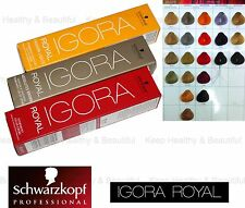 1x Schwarzkopf IGORA Permanent Color Creme Specialities/Highlifts 60ml FREE post