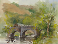 John A. Case - Set of Three Contemporary Watercolours, The Country Walk