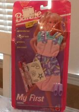 New Vintage 1993 Barbie My First Fashions Outfit Shoes Crayons to Color Stickers