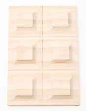 Dollhouse Miniature Wainscot - 6 Panel Design - 1:12 Scale