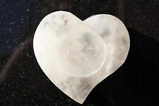 Amazing WHITE Selenite Crystal Heart - Grid Centerpiece POWERFUL: ZENERGY GEMS™