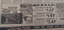 DEC 14, 1965 NEWSPAPER PAGE #7776- THE MAN FROM U.N.C.L.E. GUN + MARX TOY CAR