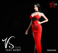 Vstoys 19XG49A 1/6 Red Long Evening Dress Clothes Model For 12'' Female TBL Body