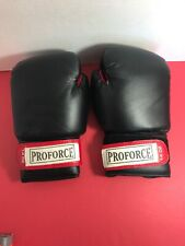 ProForce Leatherette Boxing Gloves with Red Palm - Fitness Cardio