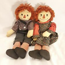 Vintage Raggedy Ann and Andy dolls homemade