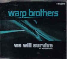 Warp Brothers- We will Survive cd maxi single eurodance 5 tracks