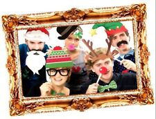 Christmas Xmas Family Selfie Photo Prop Booth Stick Novelty Party Set