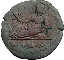 HADRIAN 127AD Alexandria Egypt EUTHENIA Rare Authentic Ancient Roman Coin i60033