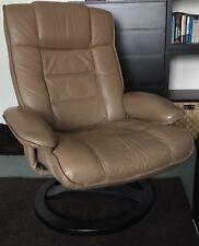 Flexsteel Motor Home Light Brown Swivel Recliner Chair (Stressless Style)