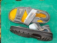 GREY NAOT SNADALS SUITABLE FOR ORTHOTICS NO BUCKLES EASY FASTENING SIZE 40 26CM