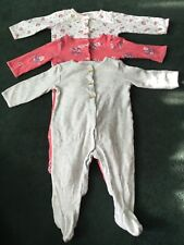 Lot of 3 Carter's Long Sleeve Bodysuits - Assorted, 9 Months