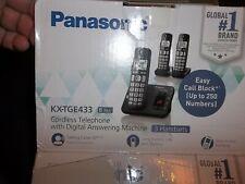 New ListingPanasonic 3 Handsets Telephone w/Digital Answering Machine Kx-Tge433B [Black]