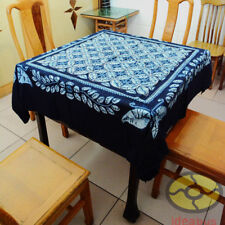 """Handmade Indigo Tie Dye Rural Style Tablecloth Table Cover Tapestry 55"""" x 55"""""""