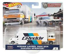 Nissan Laurel 2000 SGX  + Sakura Sprinter*RR* Hot Wheels Team Transport 1:64 NEU
