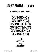 Yamaha service manual 2008 STAR RAIDER XV19SX(C) &  ROADLINER XV19MX(C)