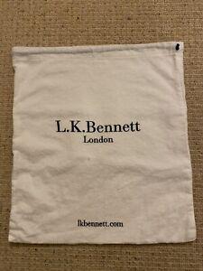 LK Bennett White Duster Drawstring Bag