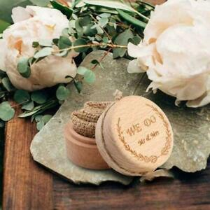 Vintage Rustic Wooden Wedding Ring Box Ring Bearer Heart Box P4C1 Decor D8W8