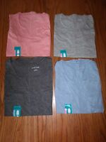 NWT WOMENS EDDIE BAUER TANK TOP POCKET SHIRT PEACH GRAY BABY BLUE CHARCOAL VNECK