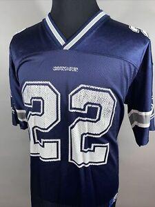 Vintage 90s Adidas Dallas Cowboys Emmit Smith #22 NFL Adult Jersey Sz L Large