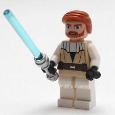 LEGO Star Wars Minifigure Obi-Wan Kenobi 7676 7753 w/ Lightsaber NEW Minifig HTF