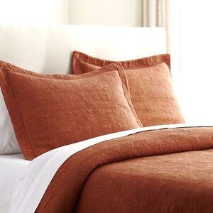 HOTEL MATELASSE COTTON Full / Queen QUILT SET : 100% COTTON COVERLET BEDDING