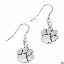 Clemson Tigers CU Paw Logo Silver Earrings 3 Pairs Football Ear Rings Brand New